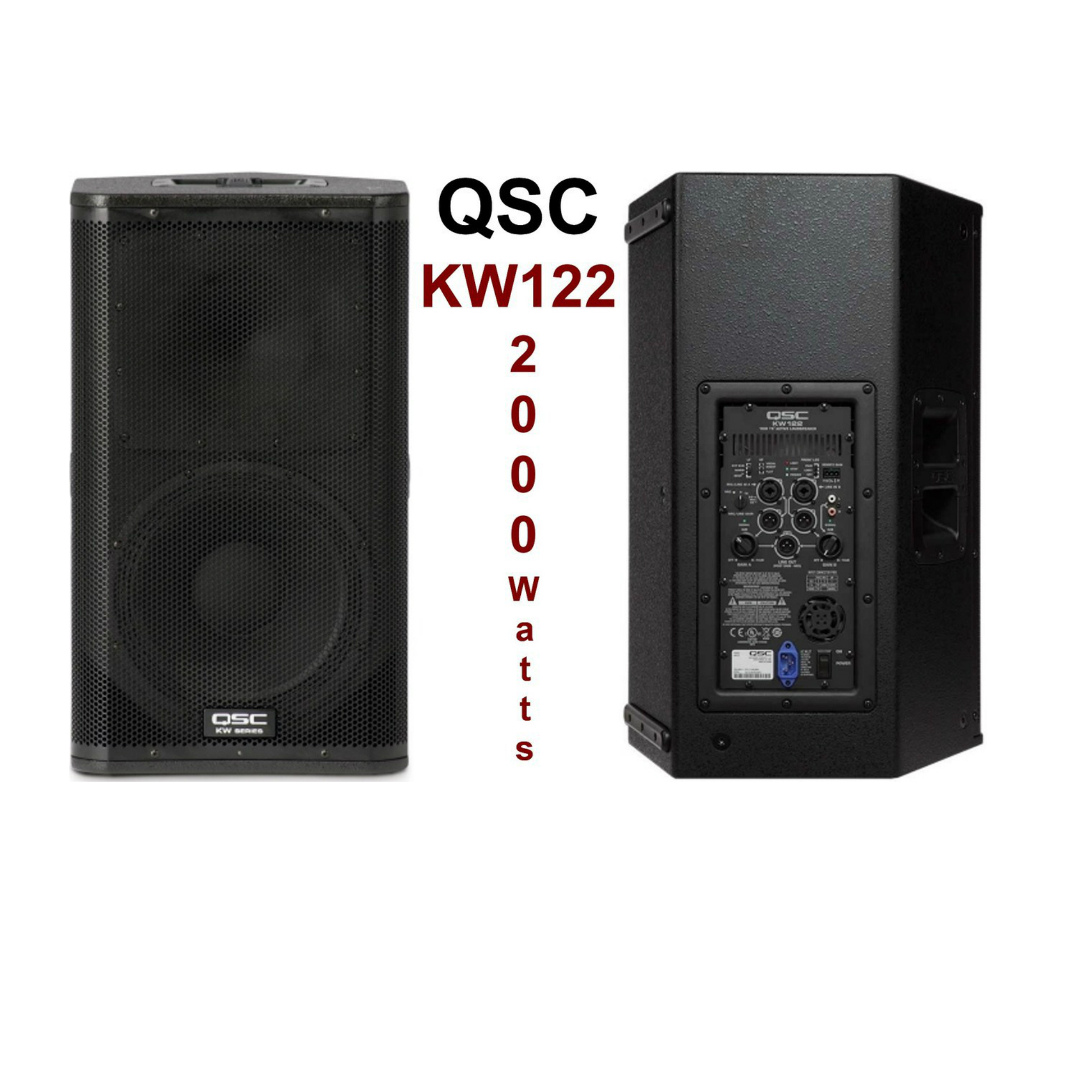 Qsc Kw122 12 Inch Powered Speaker Rental Dj Peoples