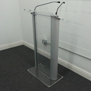 Plexiglass-Podium-Rental-Side