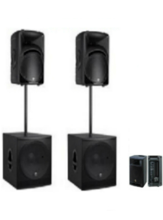 Mackie Stereo Sound System Speaker Rental Package - DJ Peoples
