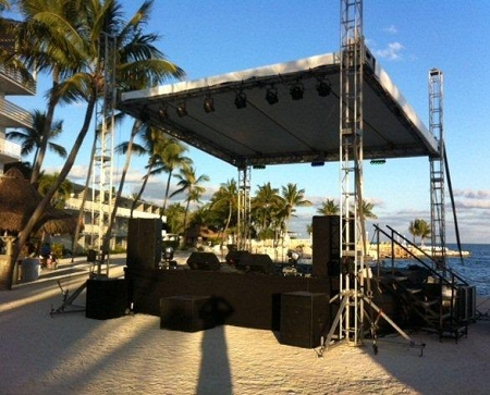 Smoke Machine Rental >> Rent 4'x8' Concert or Performance Stage Section - DJ Peoples