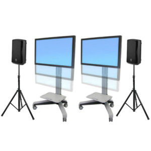 two-50-inch-tv-rental-with-stand-and-speakers