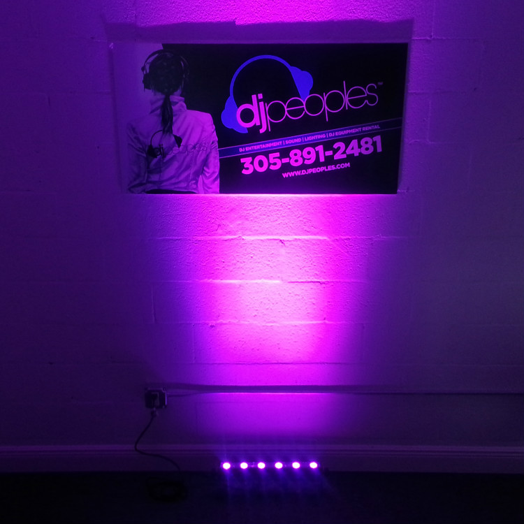 "Smoke Machine Rental >> LED Up Lighting Rental Package (36"" Fixture) - DJ Peoples"