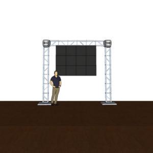 4x3 panels on truss