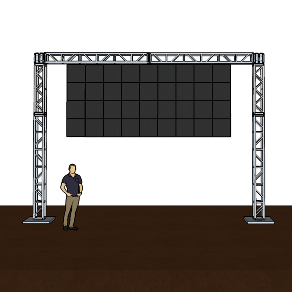 Truss Mounted Hd Video Wall Panels Rental For In Outdoor Use